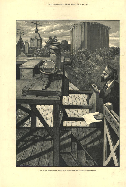 Associate Product The Royal Observatory, Greenwich: measuring the sunshine. London. Astronomy 1880