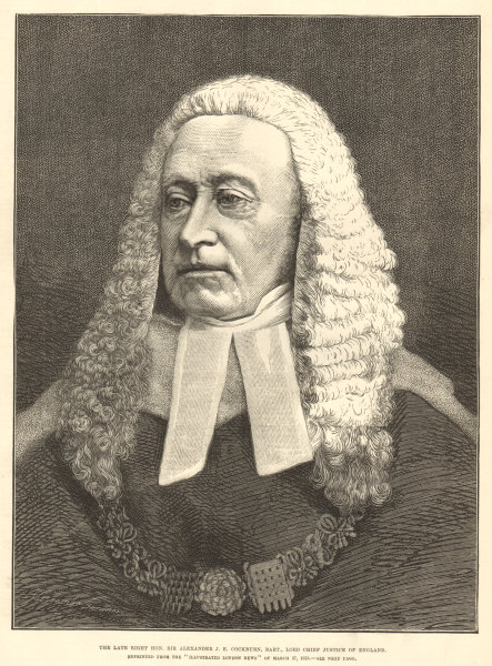 Associate Product Sir Alexander J. E. Cockburn, Bart. Lord Chief Justice of England 1880