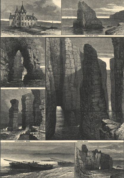 Associate Product The tourist in Scotland: John O'Groat's 1881 antique ILN full page print