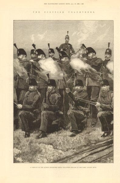 Associate Product Scottish Volunteers. Queen's Edinburgh Rifle volunteer Brigade, Lanark Moor 1881