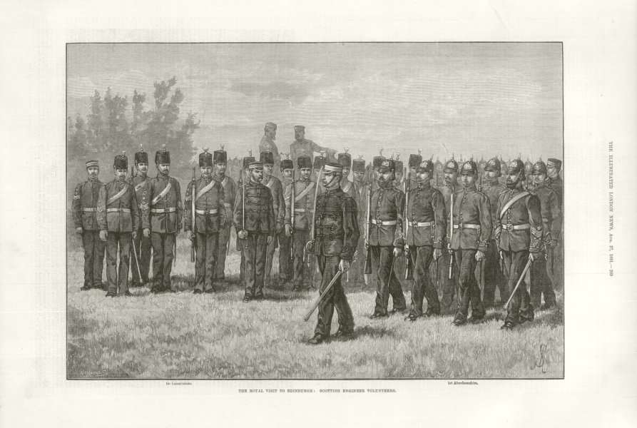 Associate Product The Royal visit to Edinburgh: Scottish Engineer Volunteers. Scotland 1881