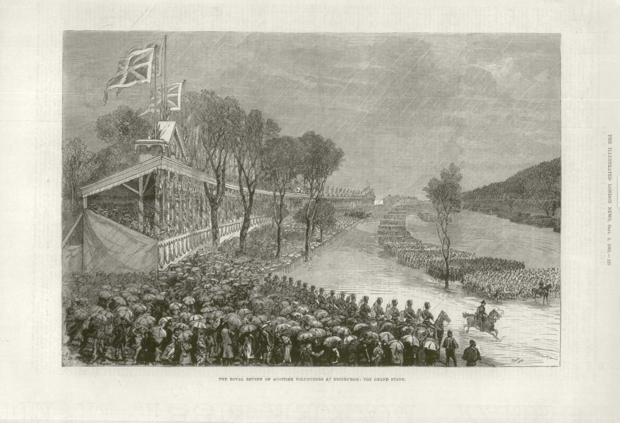 Associate Product The Royal review of Scottish Volunteers at Edinburgh: The Grand Stand 1881