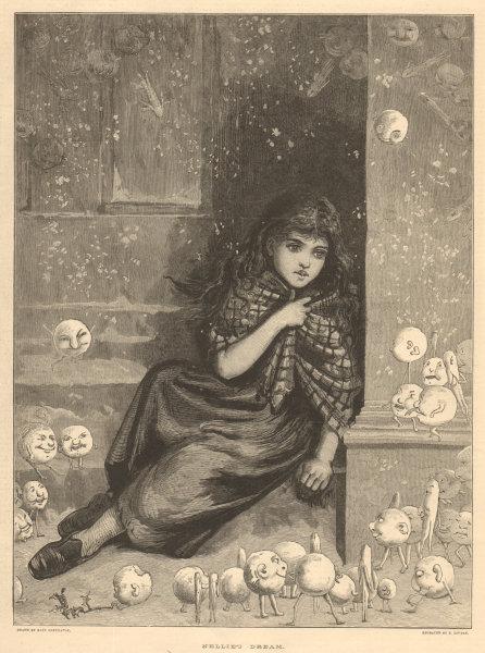 Associate Product Nellie's dream. Children. Fine arts 1881 antique ILN full page print