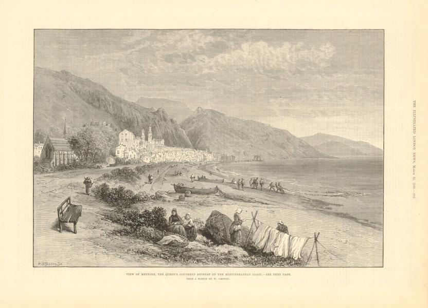 Associate Product View of Menton, Queen Victoria's Mediterranean retreat. Alpes-Maritimes 1882