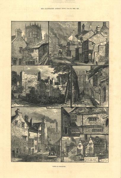 Associate Product Views in Bradford. Yorkshire. Shipley. Upper Parkfall 1882 ILN full page print