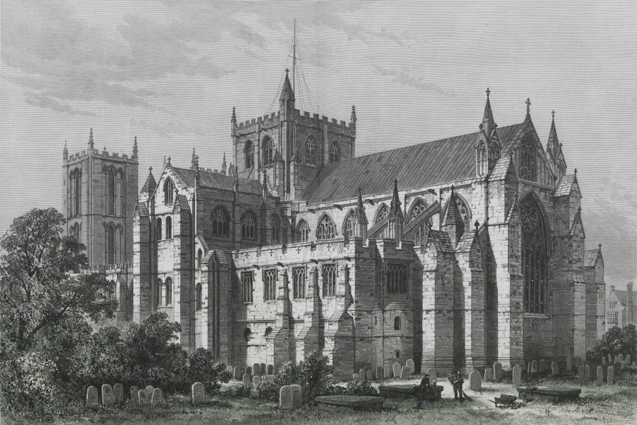 Ripon Cathedral. Yorkshire. Churches 1882 antique ILN full page print