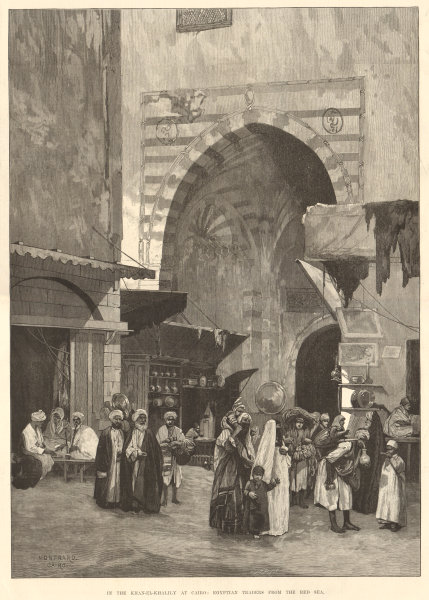 Associate Product In the Khan el-Khalili souk, Cairo: Egyptian traders from the Red Sea 1882