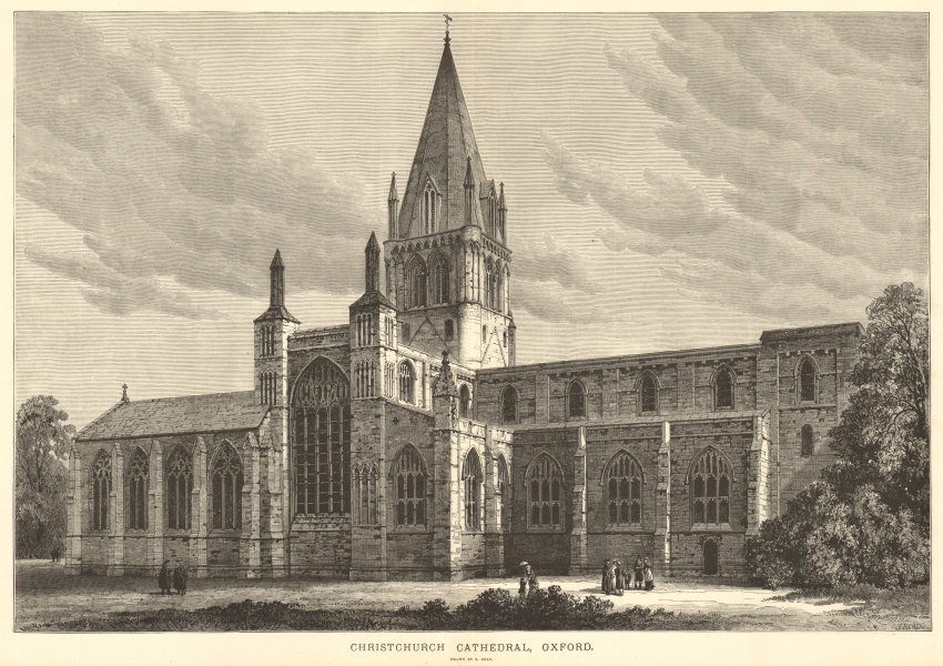 Associate Product Christchurch Cathedral, Oxford. Drawn by S. Read. Oxfordshire. Churches 1883