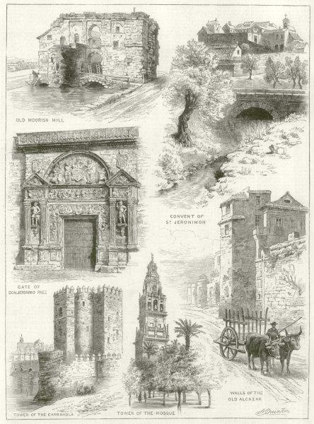 Associate Product Cordoba. Moorish Mill Jeronimon Carrahola Mosque Alcazar Jeronimo Paez 1884