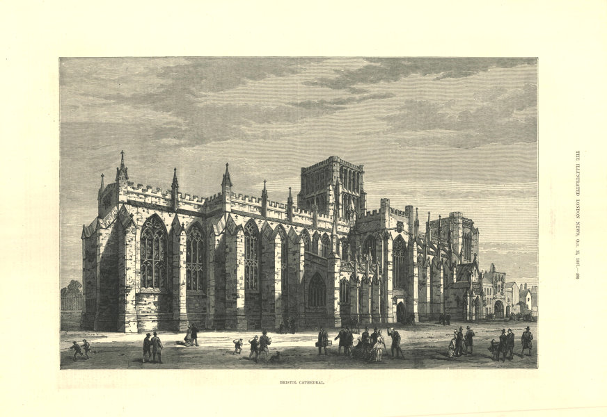 Associate Product Bristol Cathedral. Gloucestershire. Churches 1887 antique ILN full page print