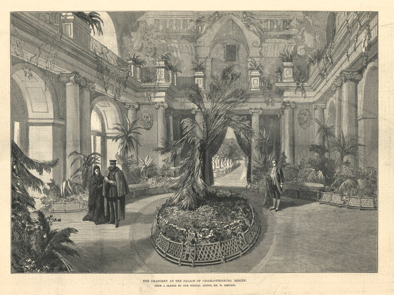 Associate Product The Orangery at the Palace of Charlottenburg, Berlin. Germany 1888 ILN print