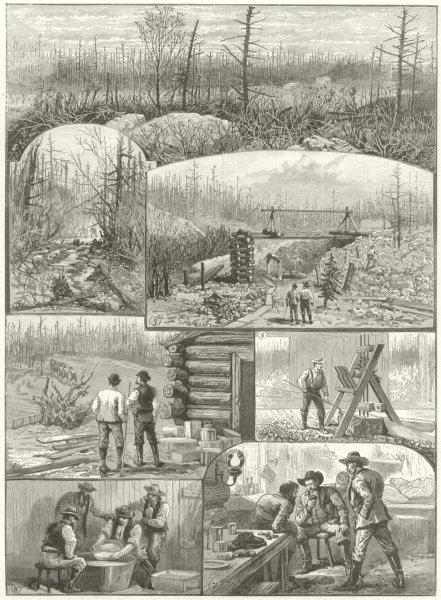 Associate Product Denison gold mines Algoma Lake Huron Ontario Tough Ranger Mine Tamarae 1888