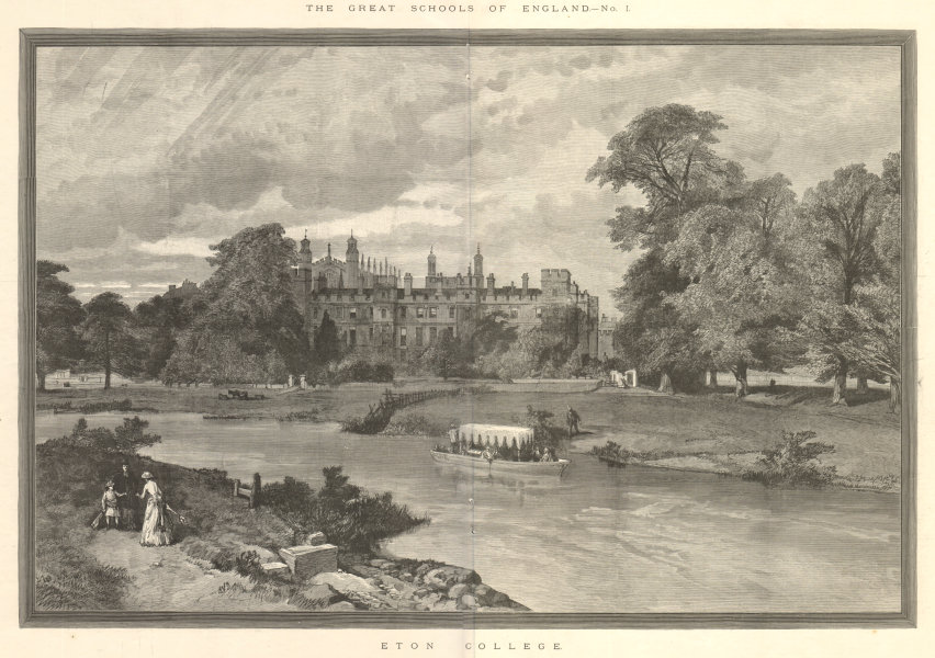 Associate Product The great schools of England: Eton College. Berkshire. Education 1890