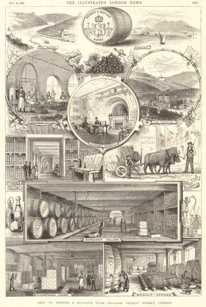 Associate Product Hedges & Butler wine cellars Regent Street London Champagne Burgundy Brandy 1890