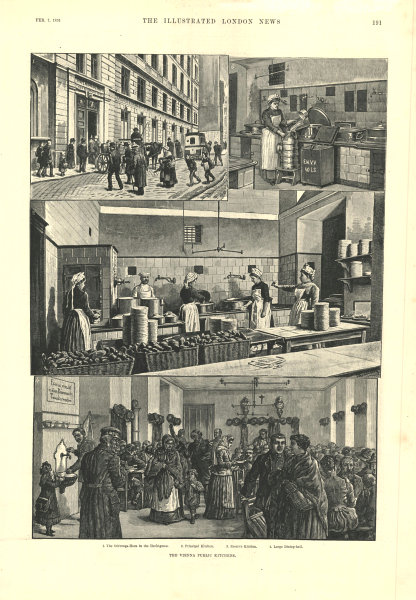 Associate Product Vienna public kitchens. Stiftungs-Haus in the Hechtgasse. Austria 1891