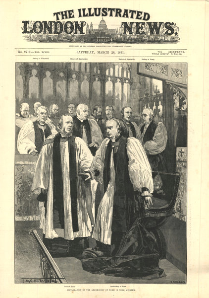 Associate Product Installation of the Archbishop of York in York Minster. The Dean 1891