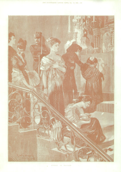 Sunday in Seville. Spain 1891 antique ILN full page print