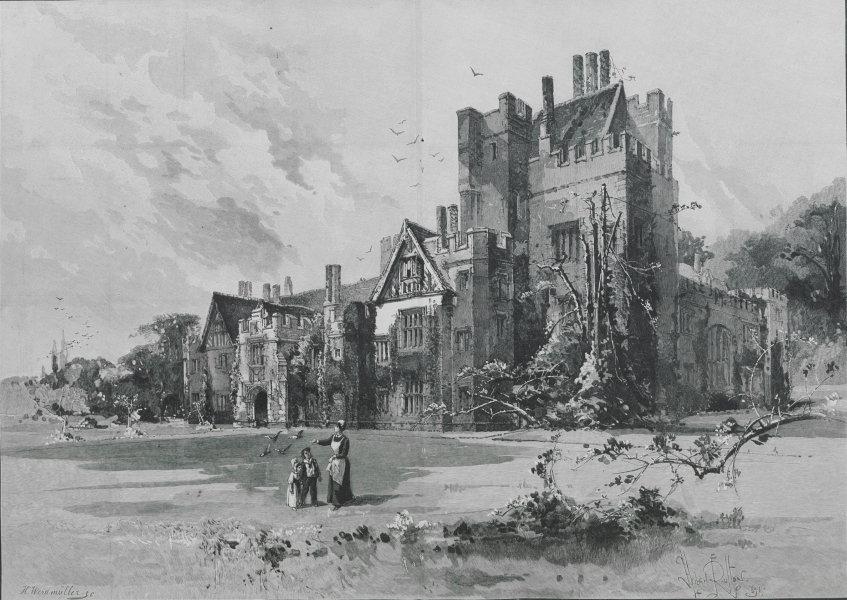 Associate Product Compton Wynyates, The seat of the Marquis of Northampton. Warwickshire 1894