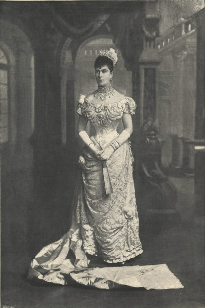 Associate Product The Duchess of York at Queen Victoria's drawing-room. London. Royalty 1895