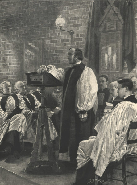 Dr. Temple, Archbishop-designate of Canterbury, opening Pepys Mission House 1896