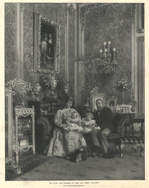Associate Product The Duke & Duchess of York & their children. Later King George V 1896