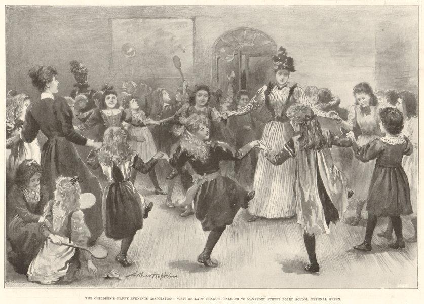 Associate Product Lady Frances Balfour. Mansford Street Board School, Bethnal Green. Children 1897