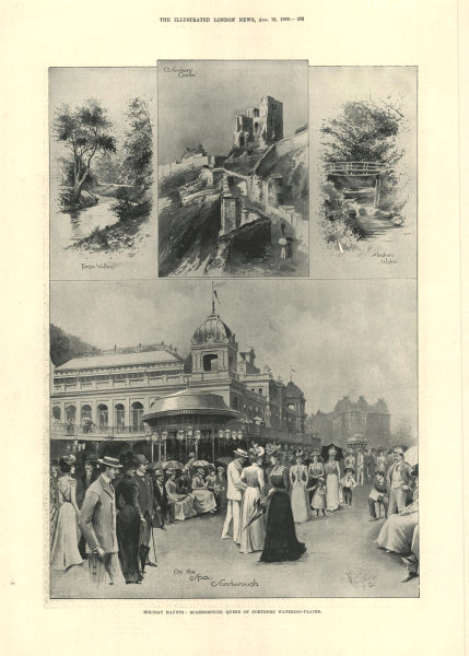 Associate Product Holiday haunts: Scarborough, queen of northern watering places. Yorkshire 1899
