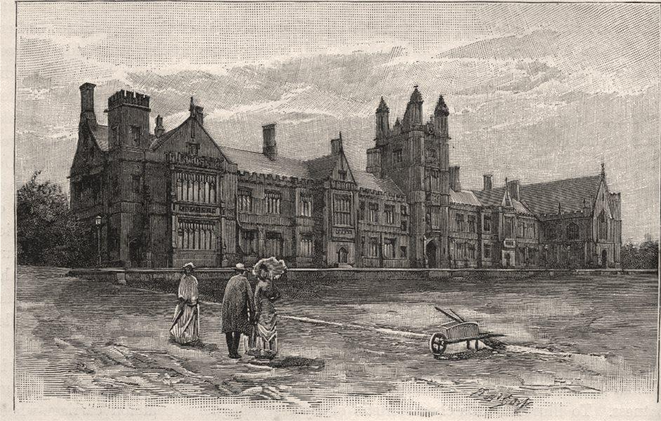 Associate Product The University. Sydney. Australia 1890 old antique vintage print picture