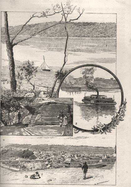 Associate Product Clontarf Shell Cove Mrs Macquarie's Chair Sydney Ferry Steamer Parramatta 1890