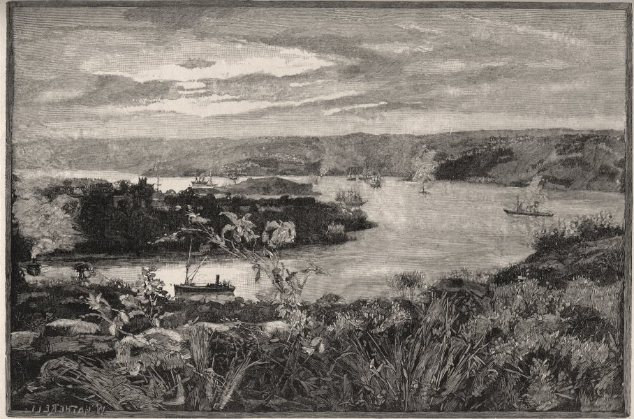 Associate Product Sydney Harbour, from Belle Vue Hill. Sydney. Australia 1890 old antique print