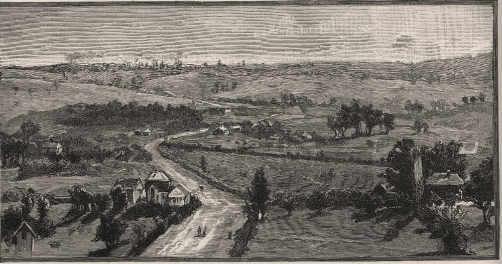 Associate Product Distant View of Melbourne from Doncaster Tower. Melbourne. Australia 1890