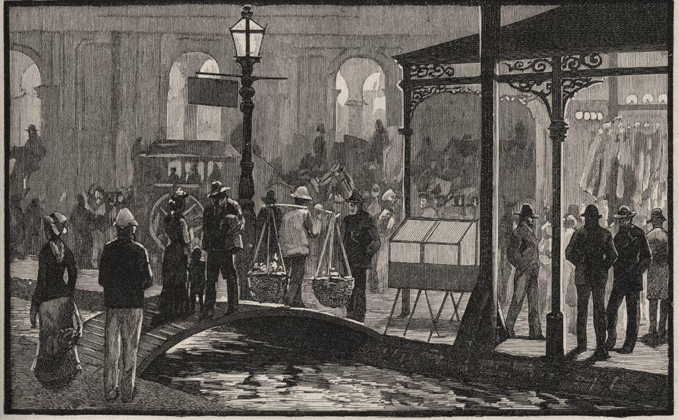 Associate Product A Melbourne Gutter in Earlier Days. Melbourne. Australia 1890 old print