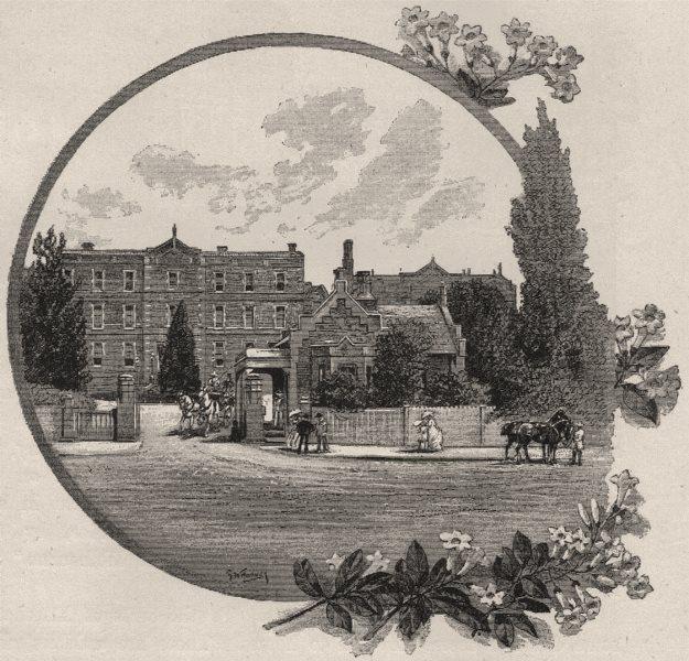 Associate Product Melbourne Hospital. Melbourne. Australia 1890 old antique print picture