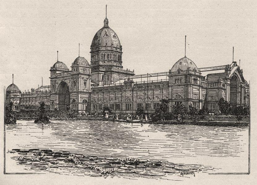 Associate Product Exhibition Buildings, Melbourne. Melbourne. Australia 1890 old antique print