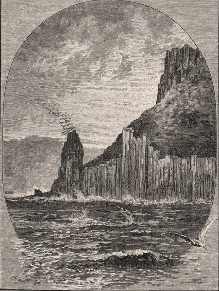 Associate Product Cape Pillar. Hobart. Australia 1890 old antique vintage print picture