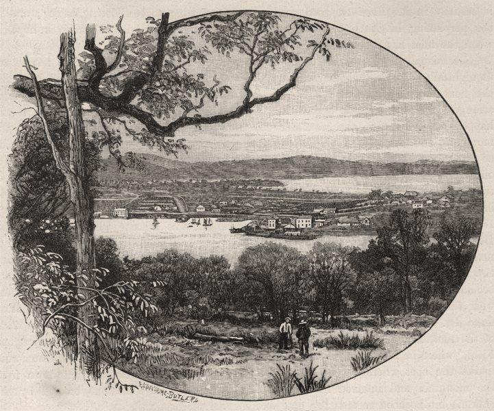 Associate Product Kangaroo Point, from Hobart. Tasmania. Australia 1890 old antique print
