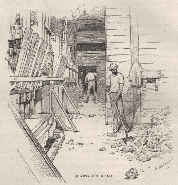 Associate Product Quartz Crushing. Gold. Australia 1890 antique vintage print picture