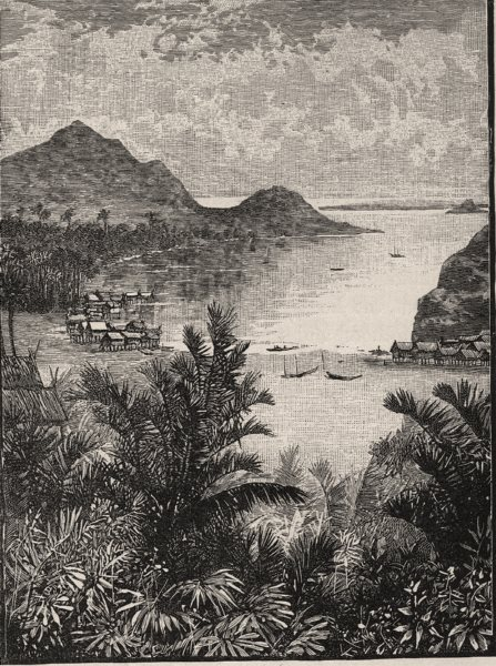 Associate Product Port Moresby. New Guinea 1890 old antique vintage print picture