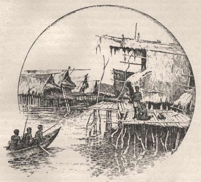Tupuselei. New Guinea 1890 old antique vintage print picture