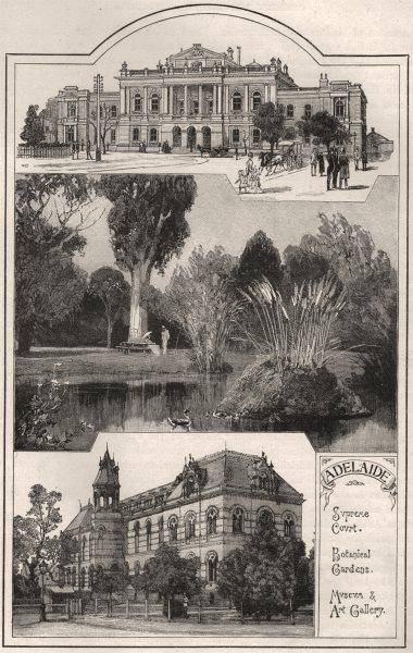 Associate Product Supreme Court; Botanical Gardens; Museum & Art Gallery. Adelaide. Australia 1890