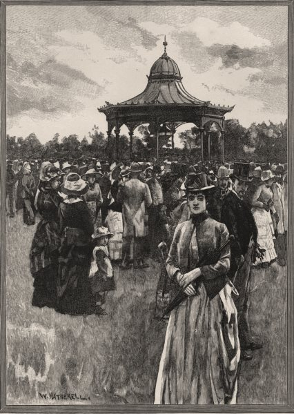 Associate Product The Band Stand and Rotunda, Adelaide. Adelaide. Australia 1890 old print