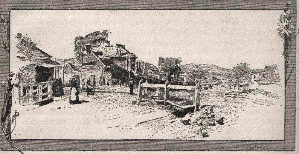 Murrurundi. The Hunter Valley. Australia 1890 old antique print picture