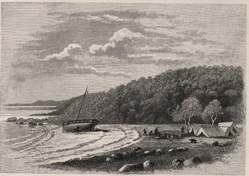 Associate Product The Mermaid Beached in Careening Bay. Explorers. Australia 1890 old print