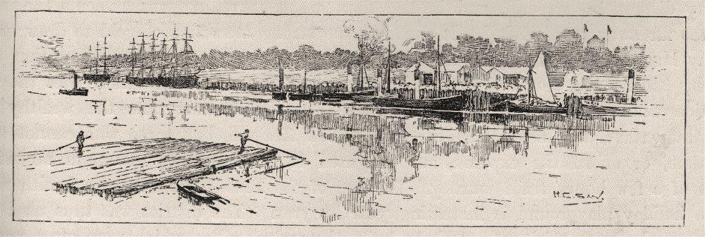 Associate Product Another Bit of the Fitzroy River. Rockhampton. Australia 1890 old print