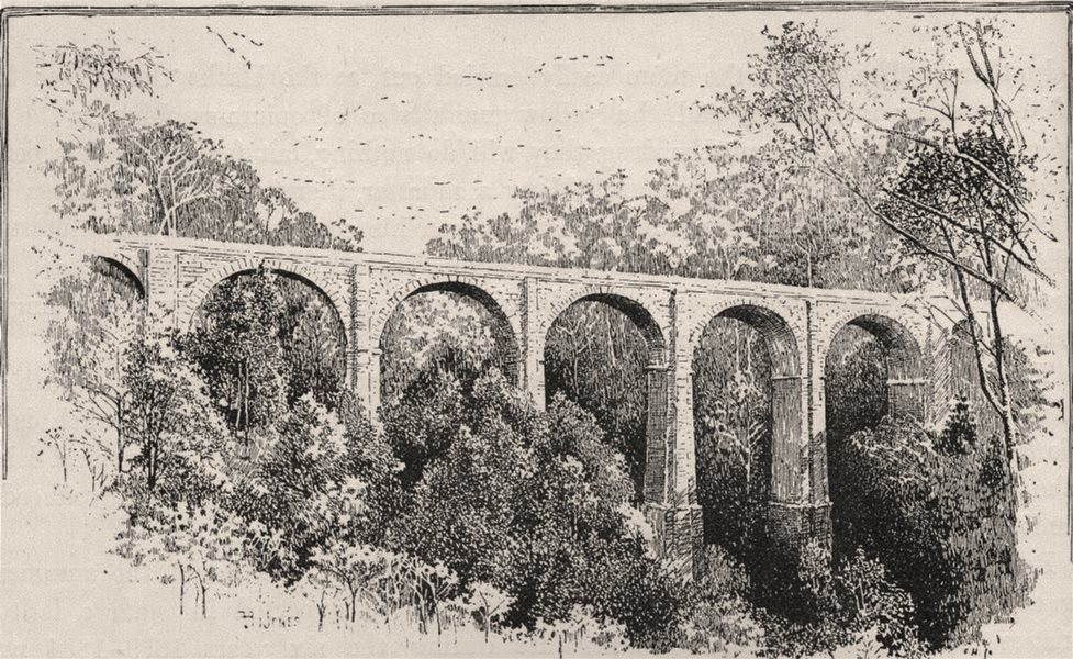 Associate Product The Viaduct, Penrith Zigzag. The Blue Mountains. Australia 1890 old print