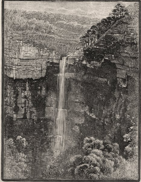 Associate Product Govett's Leap. The Blue Mountains. Australia 1890 old antique print picture