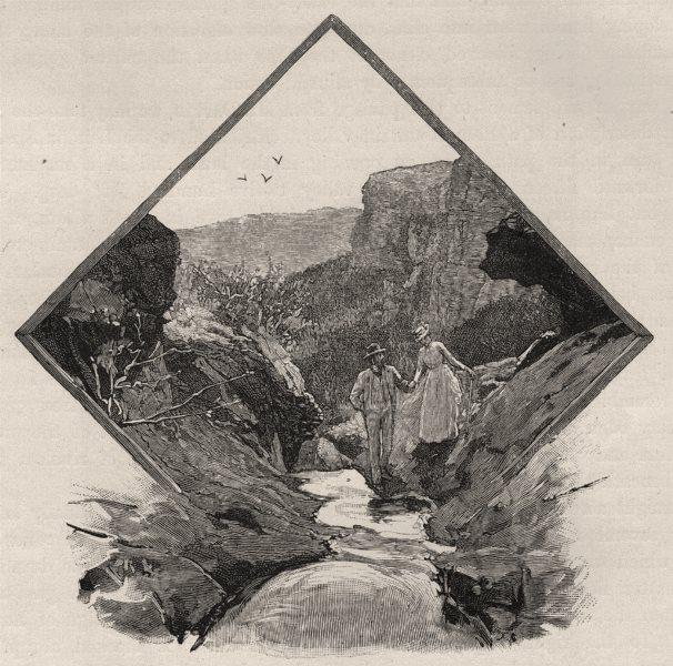 Associate Product Wind Cave, Blackheath. The Blue Mountains. Australia 1890 old antique print