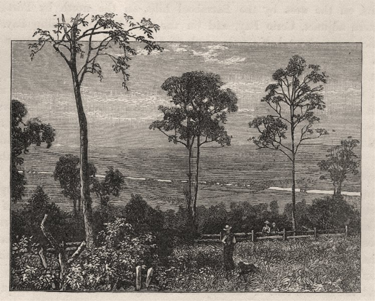 Associate Product The Emu Plains and Nepean River. The Blue Mountains. Australia 1890 old print