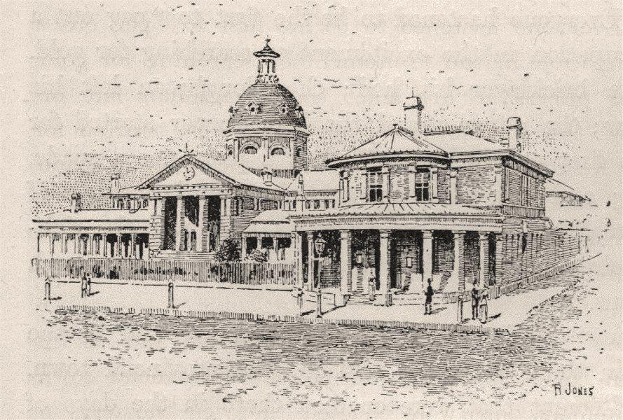 Associate Product Public Buildings. Bathurst. Australia 1890 old antique vintage print picture