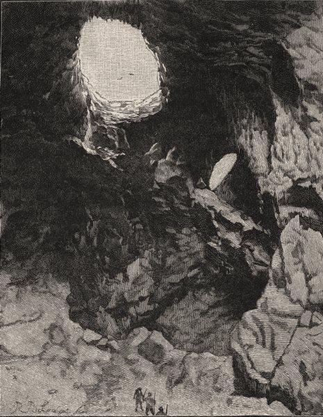 The Devil's Coach-House. The Jenolan Caves. Australia 1890 old antique print
